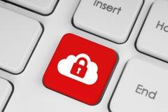Het concept van de de gegevensverwerkingsveiligheid van de wolk Royalty-vrije Stock Afbeelding