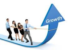 Het concept van de de groeigrafiek Stock Afbeeldingen