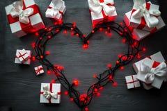 Het concept van de de groetkaart van de valentijnskaartendag Royalty-vrije Stock Foto's