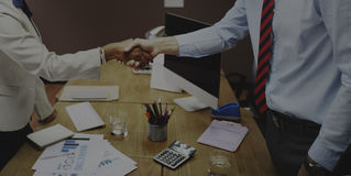 Het Concept van de de Groetovereenkomst van de bedrijfsmensenhanddruk Royalty-vrije Stock Afbeeldingen