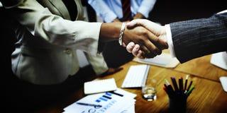 Het Concept van de de Groetovereenkomst van de bedrijfsmensenhanddruk Royalty-vrije Stock Fotografie