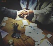 Het Concept van de de Groetovereenkomst van de bedrijfsmensenhanddruk Royalty-vrije Stock Foto