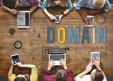 Het Concept van de de Homepageinternetwebsite van het domeinadres royalty-vrije stock foto's