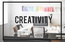 Het Concept van de de Ideeëninnovatie van het creativiteitontwerp Royalty-vrije Stock Afbeeldingen