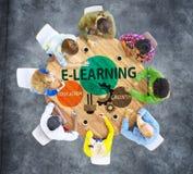 Het Concept van de de Kennisinformatie van de e-lerend Onderwijsgroei Royalty-vrije Stock Afbeelding