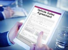 Het Concept van de de Overeenkomstenvorm van de voertuigverkoop Royalty-vrije Stock Fotografie