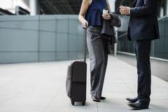 Het Concept van de de Reizigersreis van bedrijfsmensenmedewerkers Royalty-vrije Stock Afbeeldingen