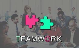 Het Concept van de de Samenwerkingsverbinding van groepswerkalliance Stock Afbeelding