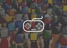 Het Concept van de de Technologiebedieningshendel van Control Leisure Fun van het spelcontrolemechanisme vector illustratie