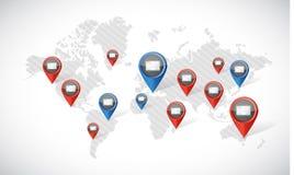 het concept van de de verbindingspost van de Webtechnologie stock illustratie