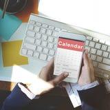 Het Concept van de de Vergaderingsdatum van de kalenderbenoeming Royalty-vrije Stock Foto