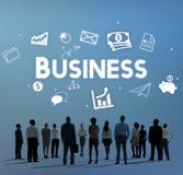 Het Concept van de de Visieorganisatie van de bedrijfstrategie royalty-vrije stock afbeelding