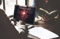 Het Concept van de de Voorzichtigheidsteleurstelling van fraudescam Phishing Stock Foto