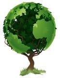Het concept van de de wereldboom van de bol royalty-vrije illustratie
