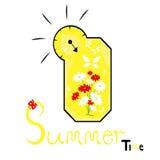 Het concept van de de zomertijd Royalty-vrije Stock Afbeeldingen