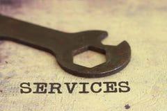 Het concept van de dienst Stock Foto's