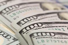 Het Concept van de dollarsclose-up Het Amerikaanse Geld van het Dollarscontante geld Honderd dollarsbankbiljetten - Beeld royalty-vrije stock afbeeldingen