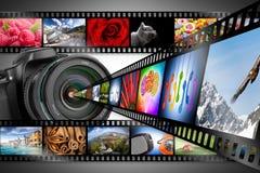 Het concept van de Dslrcamera royalty-vrije stock foto