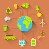 Het concept van de ecologie vector illustratie