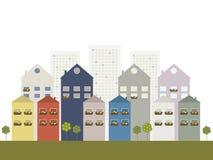 Het concept van de Ecostad royalty-vrije illustratie