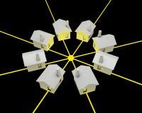Het concept van de elektriciteit Stock Afbeeldingen