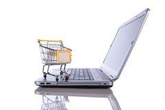 Het concept van de elektronische handel Stock Foto's