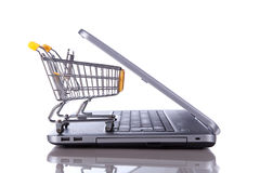 Het concept van de elektronische handel Stock Afbeeldingen