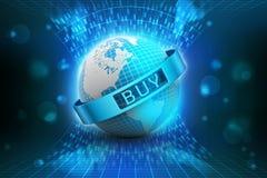 Het concept van de elektronische handel Stock Afbeelding