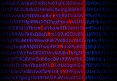 Het concept van de encryptie - rode laser decrypterende brieven royalty-vrije illustratie