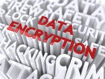 Het Concept van de Encryptie van gegevens. vector illustratie