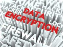 Het Concept van de Encryptie van gegevens. stock illustratie