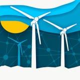 Het Concept van de Energie van de wind vector illustratie