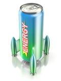Het concept van de energiedrank Stock Foto