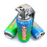 Het concept van de energiedrank Stock Fotografie