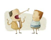 Concept die van de ethiek bedrijfswerkgever een werknemer het liggen royalty-vrije illustratie
