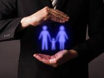 Het concept van de familiebescherming Royalty-vrije Stock Foto's