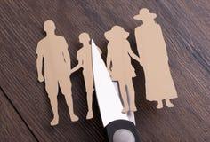 Het concept van de familiescheiding Stock Foto