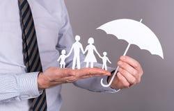 Het concept van de familieverzekering Royalty-vrije Stock Afbeeldingen