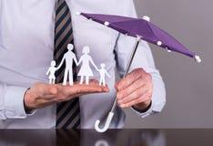 Het concept van de familieverzekering Stock Afbeelding
