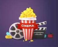 Het Concept van de filmbioskoop Royalty-vrije Stock Fotografie