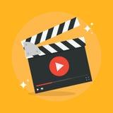Het concept van de filmproductie vector illustratie