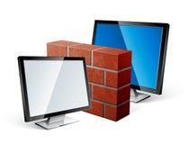 Het concept van de firewall vector illustratie