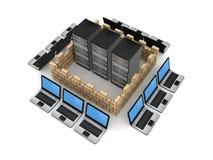 Het concept van de firewall. Stock Foto's