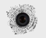 Het concept van de fotografie royalty-vrije stock afbeelding