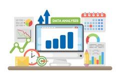 Het Concept van de gegevensanalyse vector illustratie
