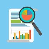 Het Concept van de gegevensanalyse Vlak Ontwerp Stock Afbeelding