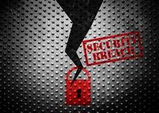 Het concept van de gegevensbeveiligingbreuk stock illustratie