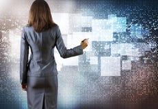 Het concept van de gegevensverwerking Stock Afbeeldingen