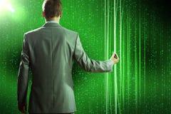 Het concept van de gegevensverwerking Stock Afbeelding