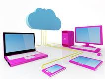 Het Concept van de Gegevensverwerking van de wolk Stock Fotografie